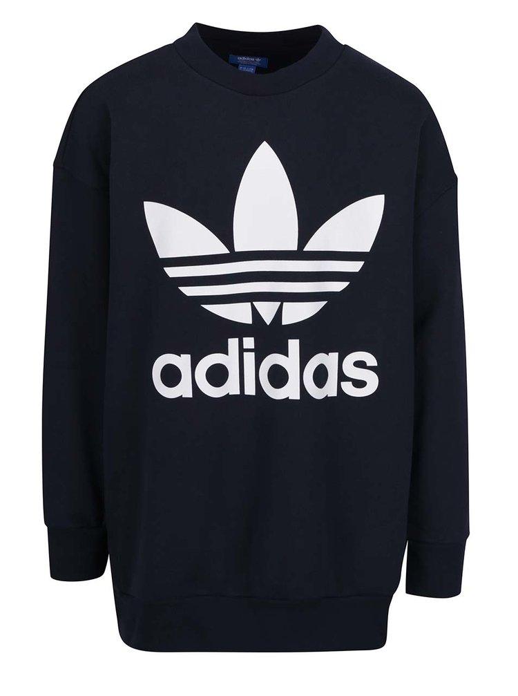 Bluză  neagra cu logo adidas Originals