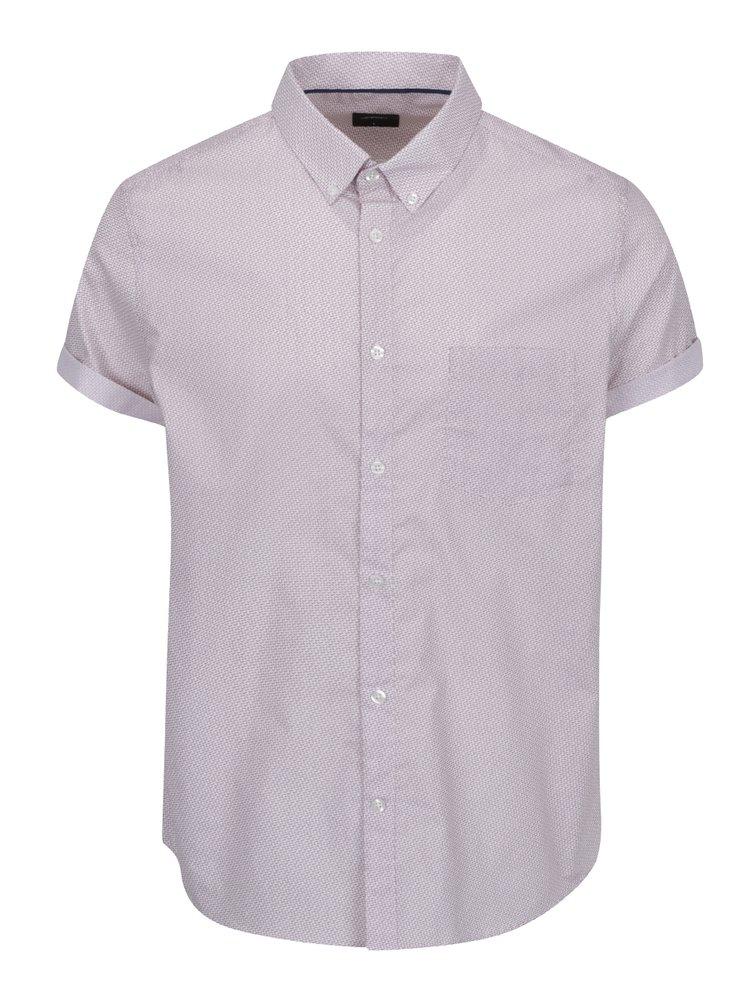 Cămașă alb&roșu  Burton Menswear London cu model discret