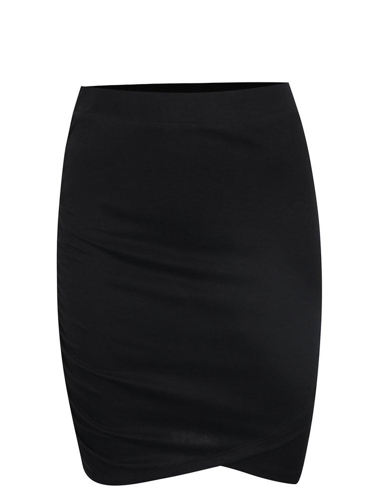 Černá sukně s řasením na boku Noisy May Kathinka