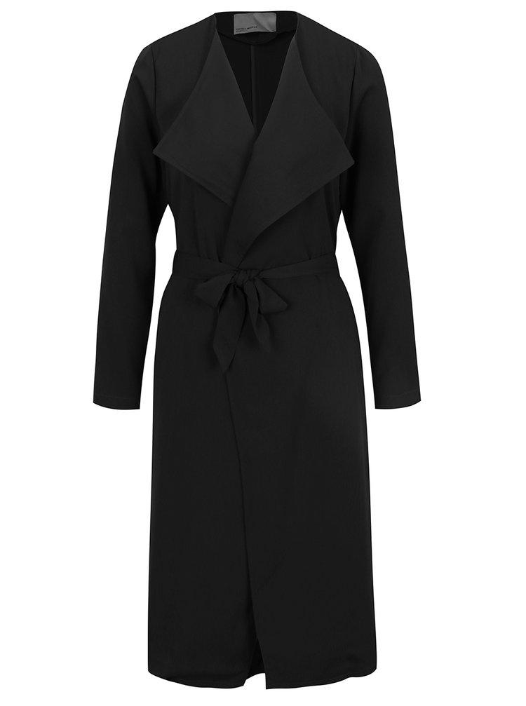 Černý lehký kabát s kapsami VERO MODA Maili