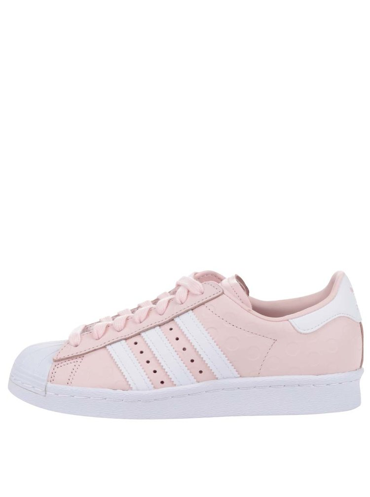 87f79fee6 Růžové dámské kožené tenisky na platformě adidas Originals Superstar ...