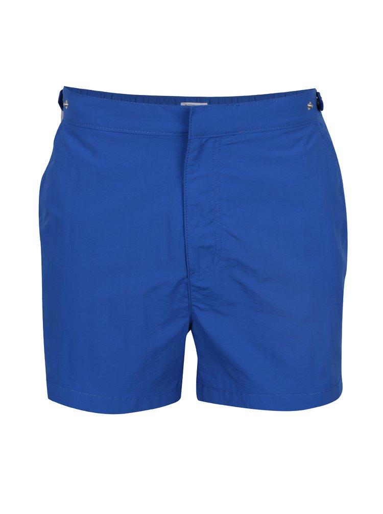 Bermude de plajă albastre Burton Menswear London cu buzunare