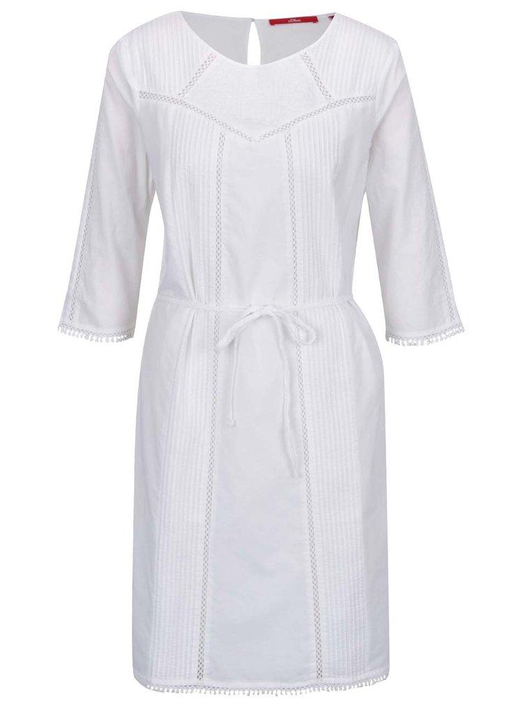 Rochie albă s.Oliver  cu detalii din dantelă