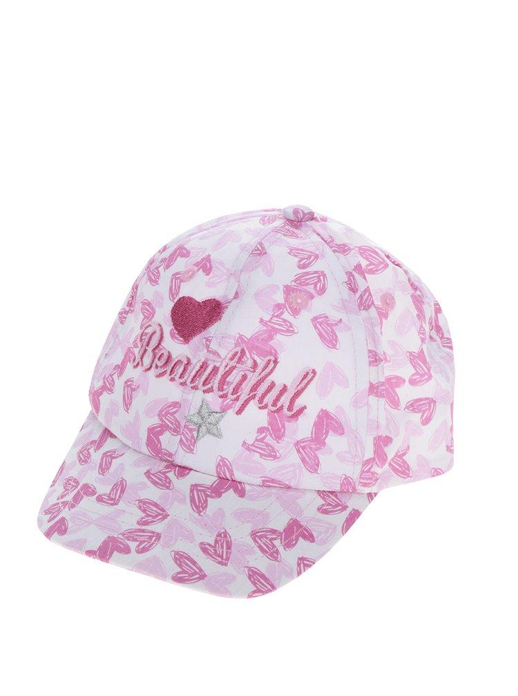 Șapcă roz cu inimioare pentru fete 5.10.15.