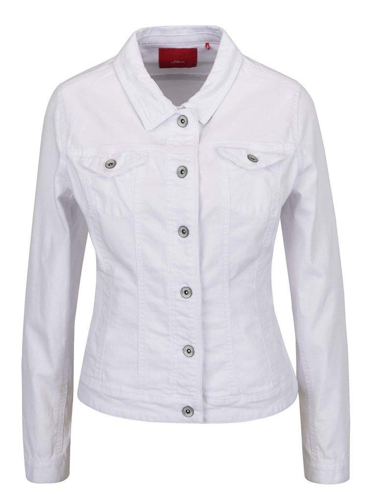 Jachetă albă din denim s.Oliver pentru femei