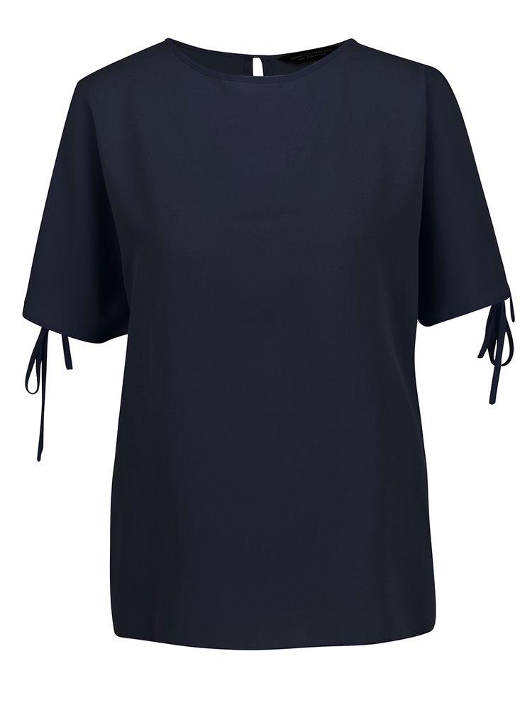 Bluză albastru închis Dorothy Perkins cu decupaje pe umeri