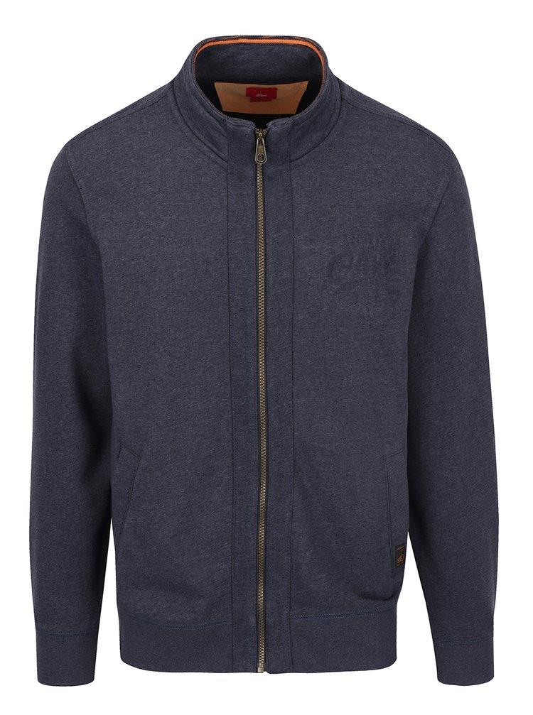 Bluză bleumarin cu fermoar s.Oliver pentru bărbați