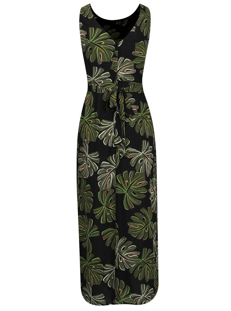 Zeleno-černé vzorované maxišaty Dorothy Perkins Petite