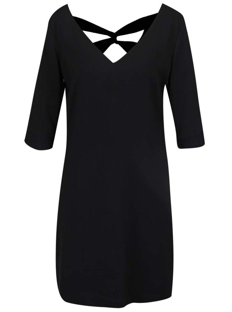 Černé šaty s pásky na zádech s.Oliver