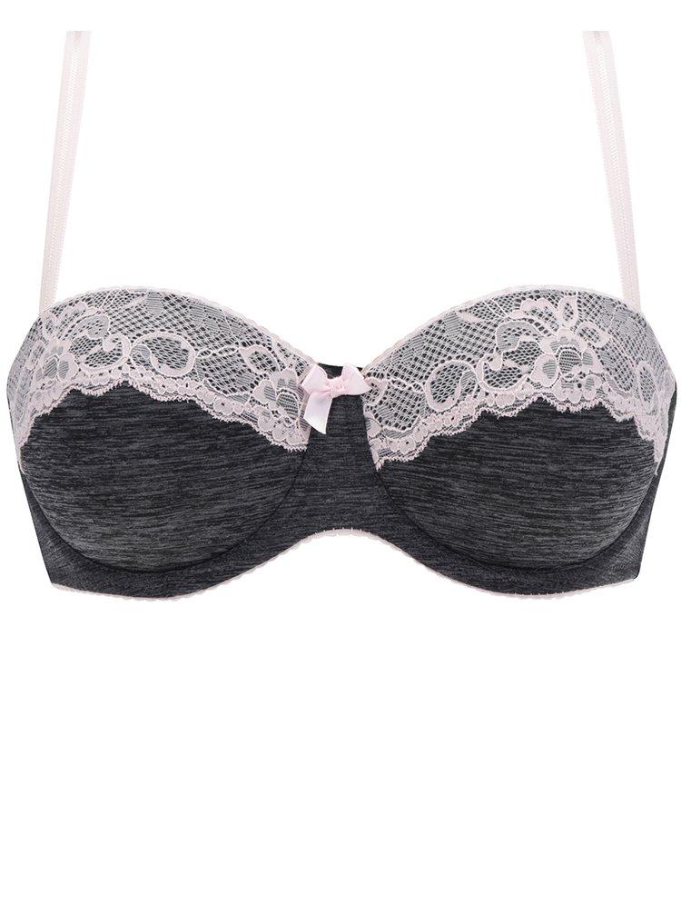 Růžovo-šedá podprsenka Haily´s Tiffany