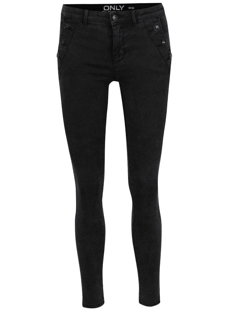 Černé skinny džíny ONLY Royal