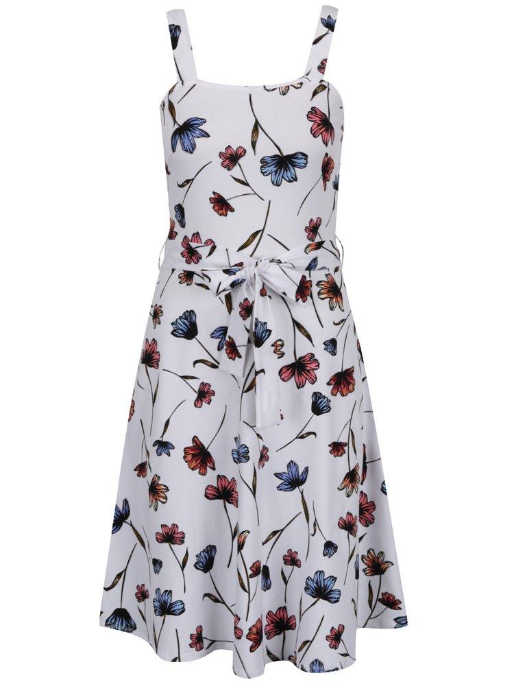 Bílé květované šaty na ramínka Dorothy Perkins