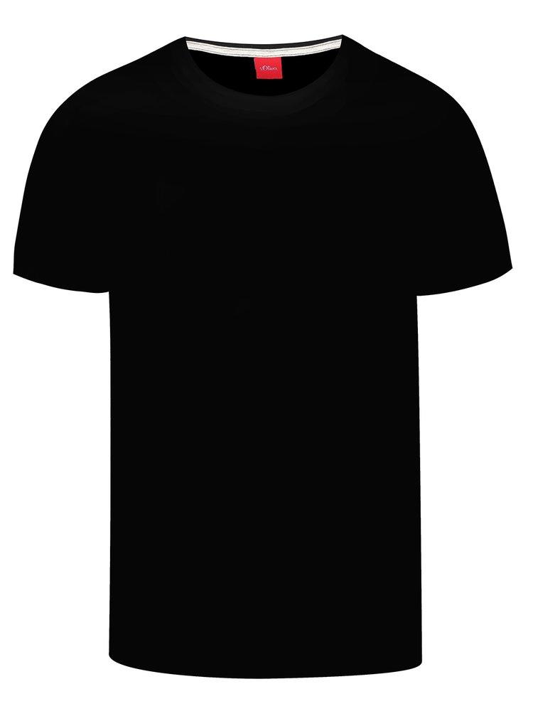 Černé pánské basic triko s krátkým rukávem s.Oliver