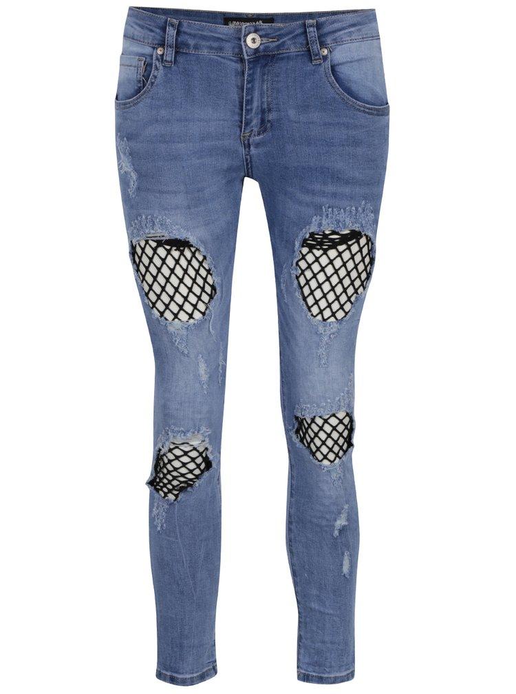 Modré džíny se síťovanou podšívkou Haily´s Netty