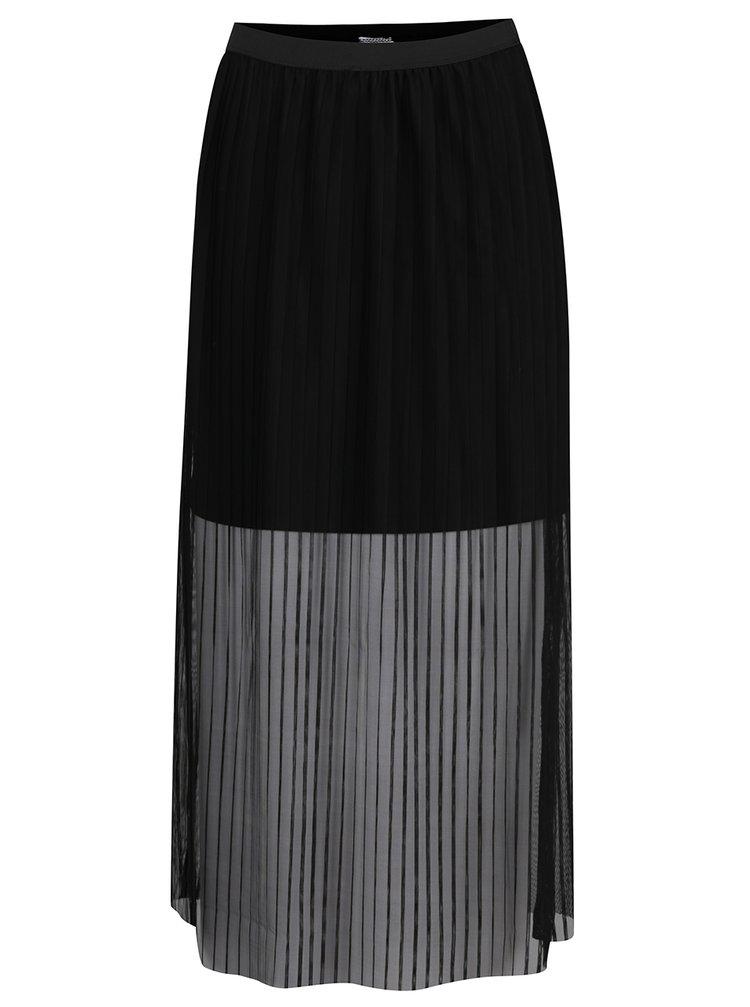 Černá plisovaná midi sukně Noisy May Rue