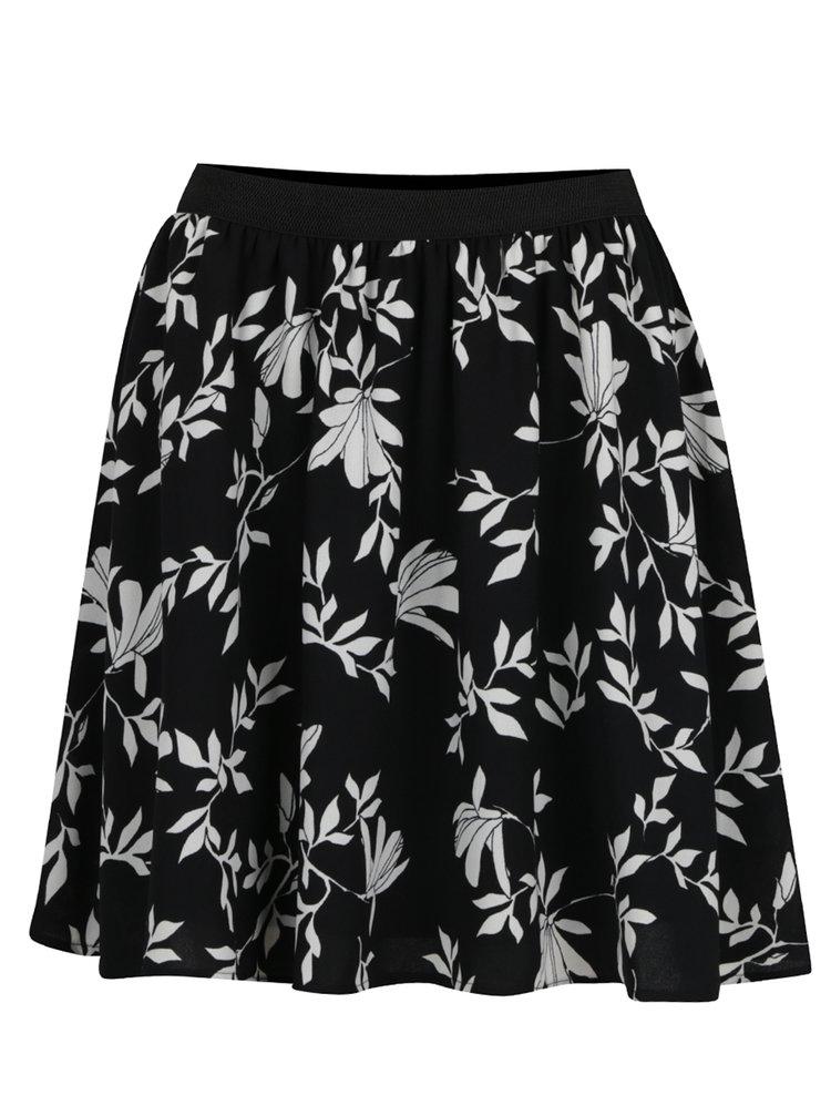 Černá květovaná sukně VERO MODA Martha