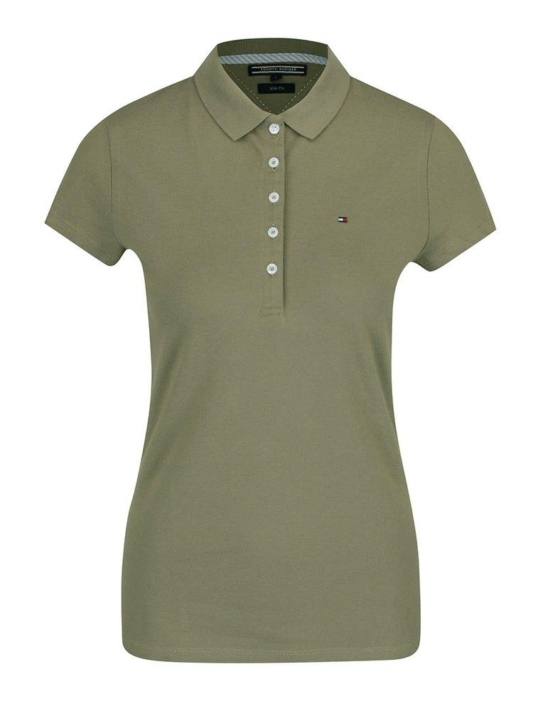 Khaki dámské polo tričko Tommy Hilfiger