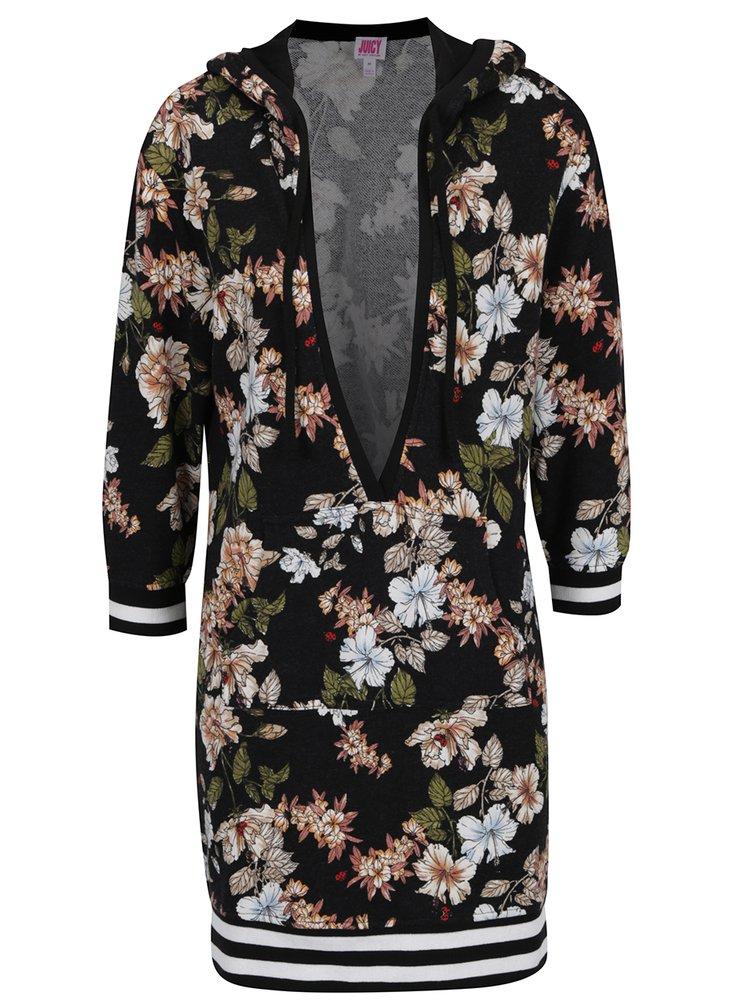 Rochie neagră Juicy Couture cu imprimeu