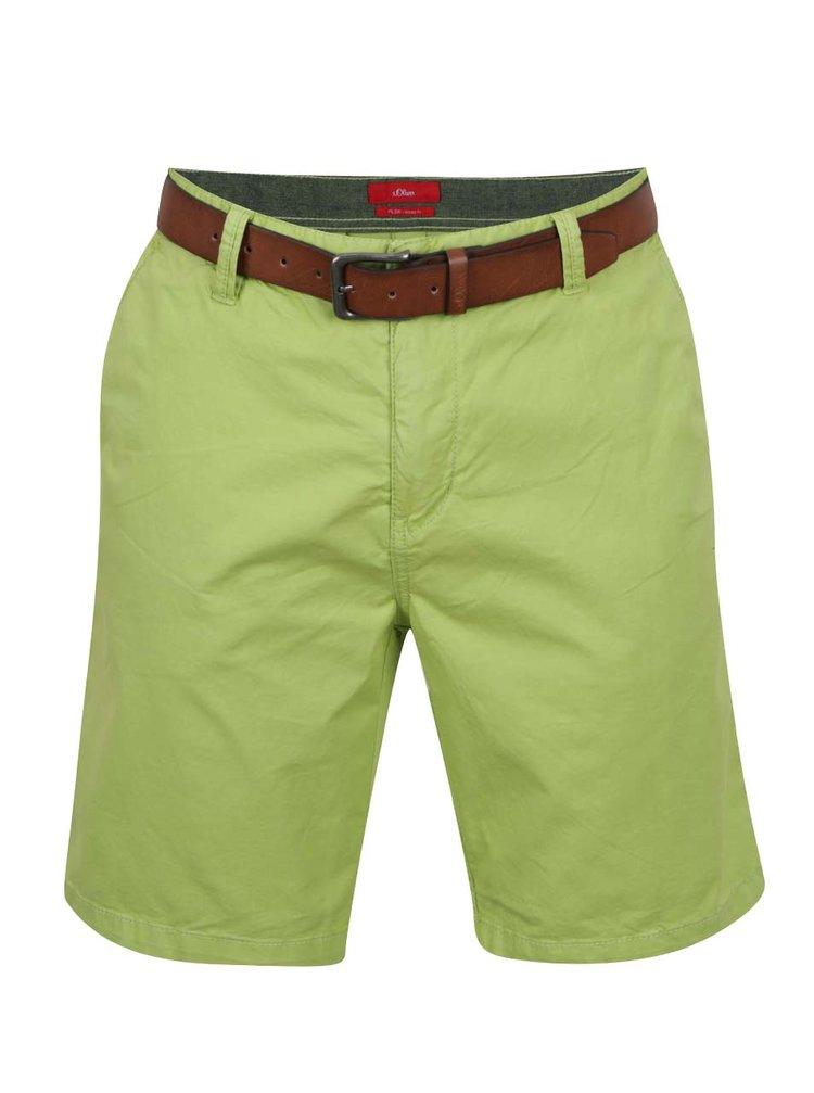 Pantaloni scurți chino verzi s.Oliver
