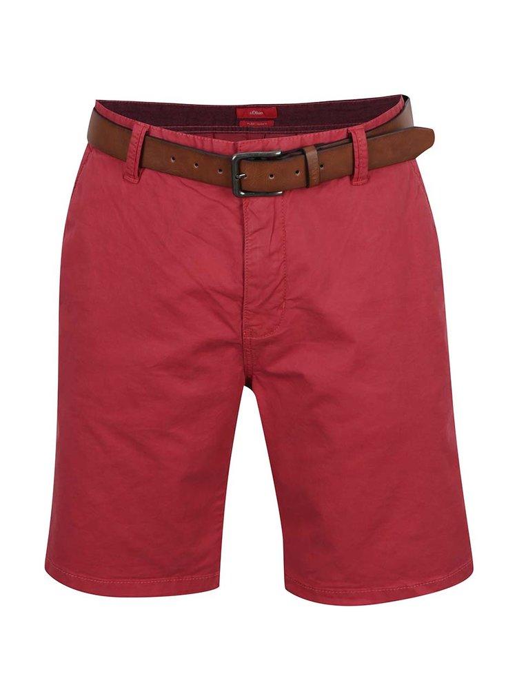 Pantaloni scurți chino roșii s.Oliver