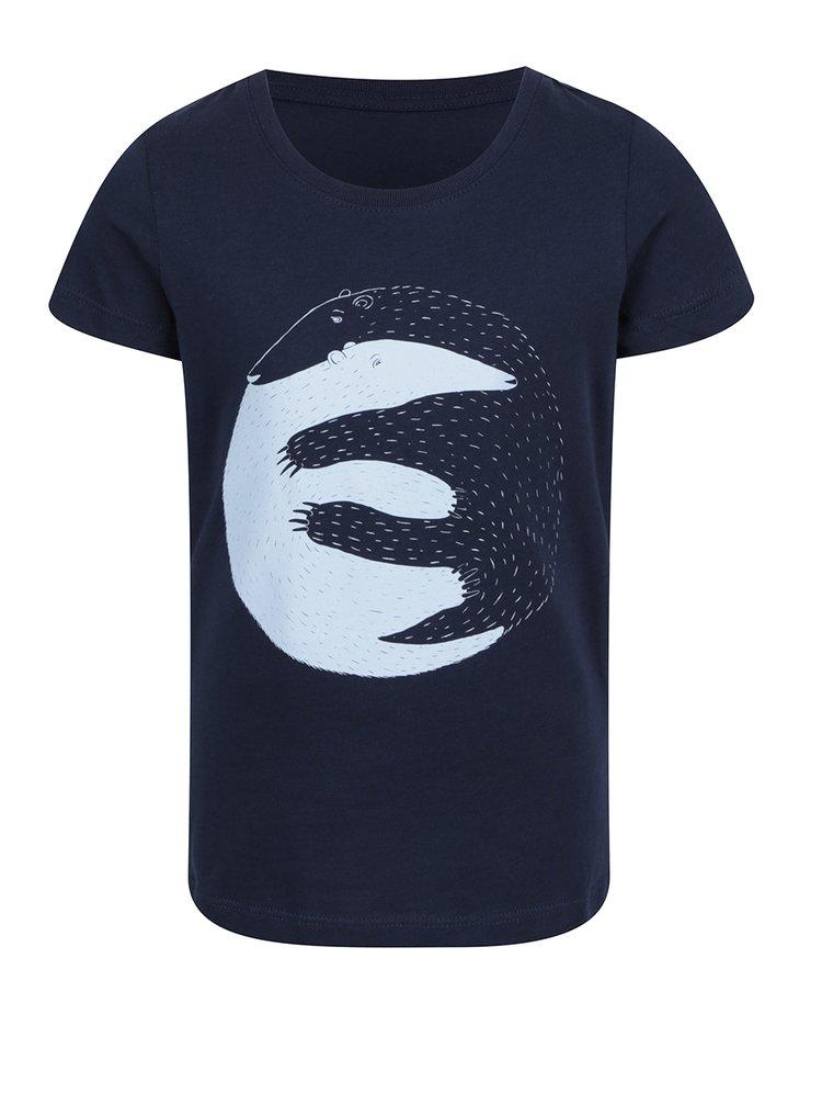 """""""Dobré"""" tmavě modré holčičí tričko pro Care"""