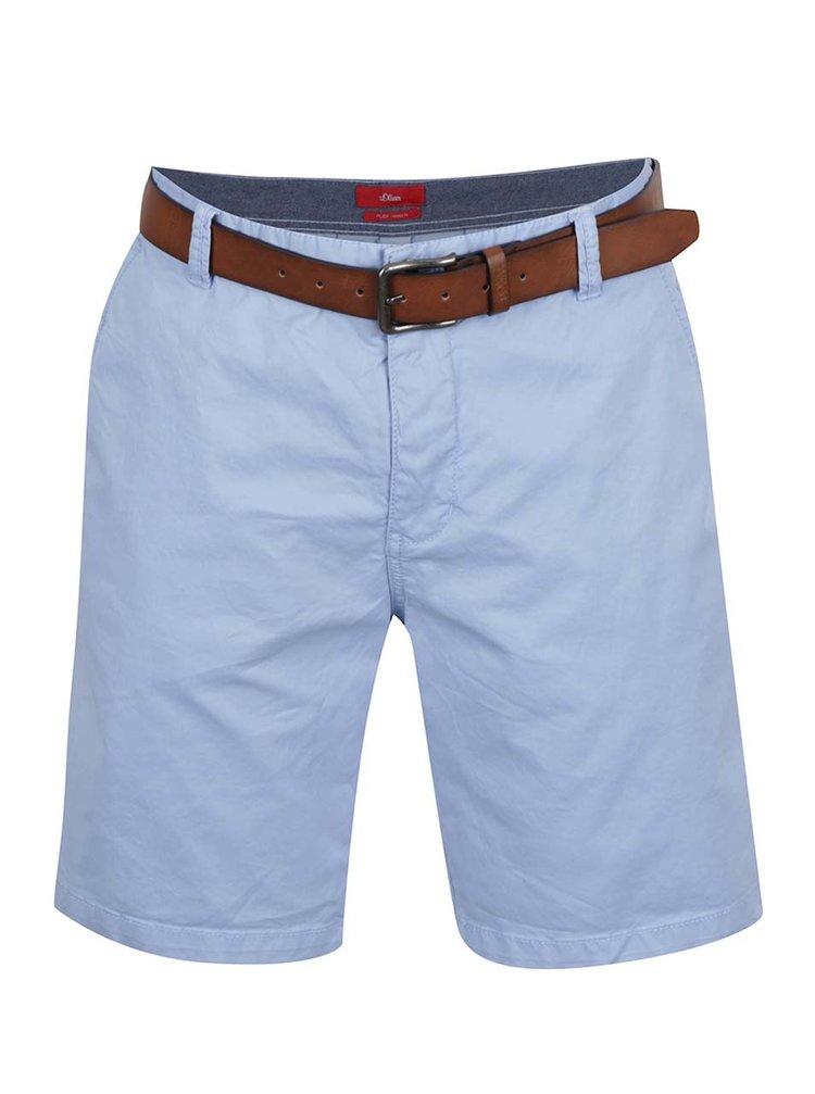 Pantaloni scurți chino bleu s.Oliver