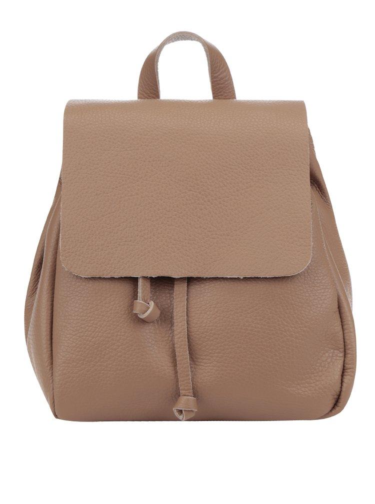 Hnědý dámský kožený batoh ZOOT Simple