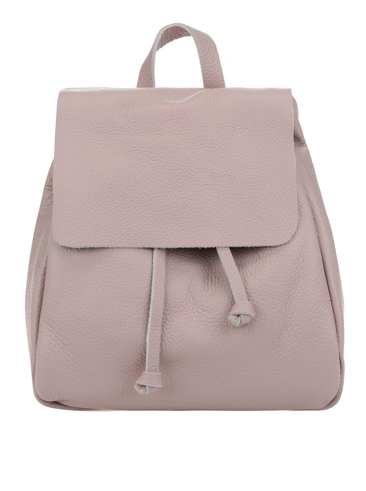 Světle růžový dámský kožený batoh ZOOT Simple