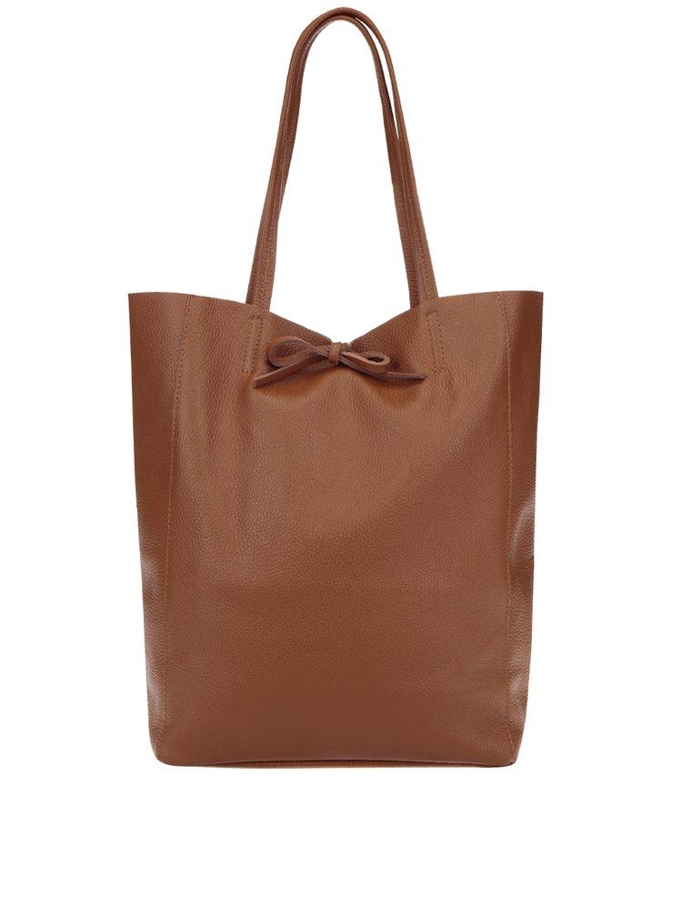 Geantă maro shopper din piele ZOOT Simple