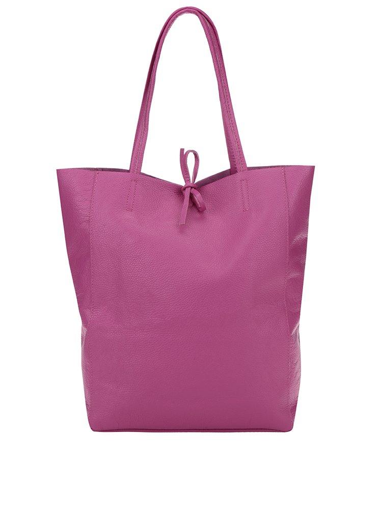 Růžový kožený shopper ZOOT Simple