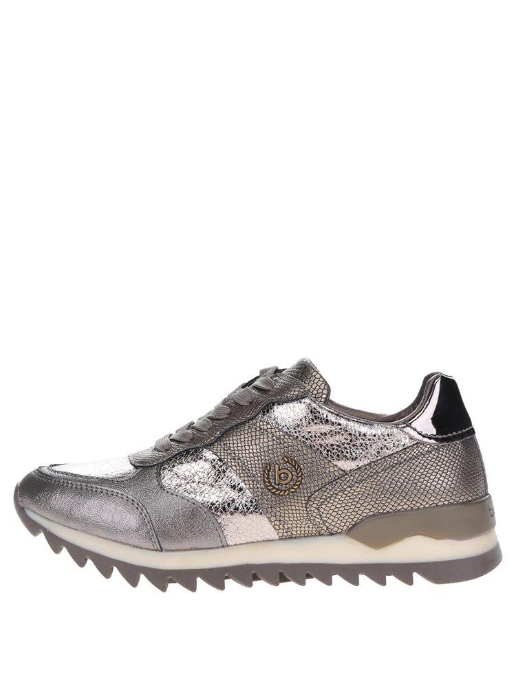 Dámské metalické tenisky ve stříbrné barvě bugatti Fergie
