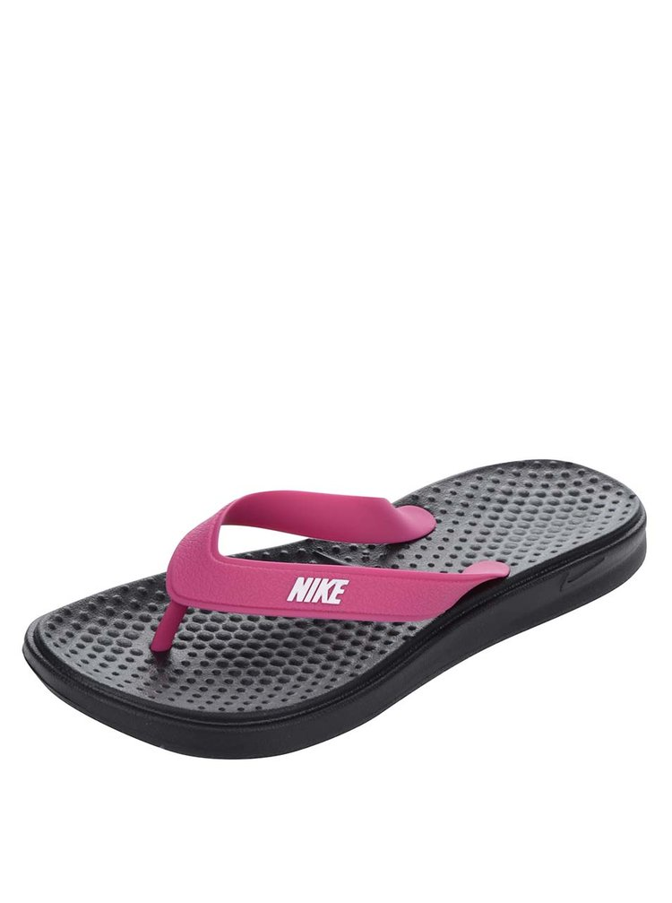 Černo-růžové dámské žabky Nike Solay Thong
