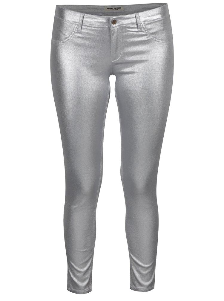 Dámské kalhoty ve stříbrné barvě TALLY WEiJL