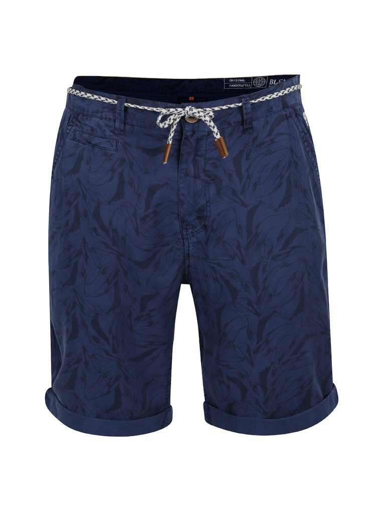 Pantaloni scurți bleumarin cu imprimeu Blend