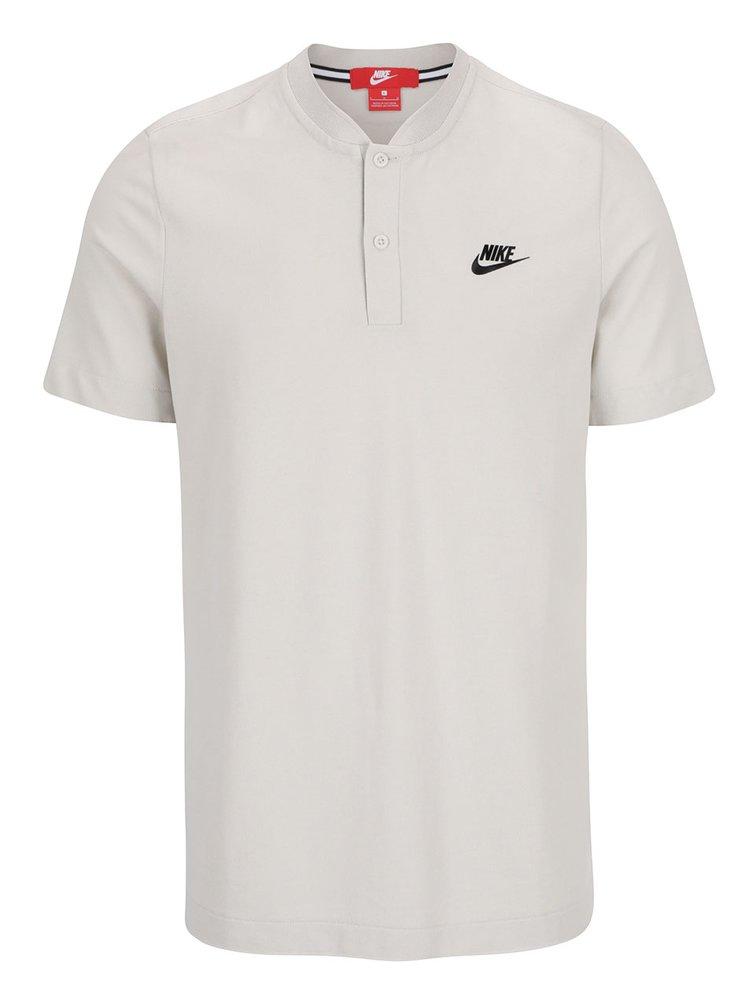 Krémové pánské polo triko s logem Nike