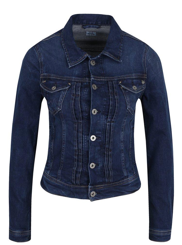 ... Tmavomodrá dámska rifľová bunda Pepe Jeans Mikas df8180b98d