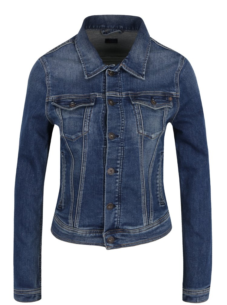 Jachetă albastră Pepe Jeans Core Jacket din denim
