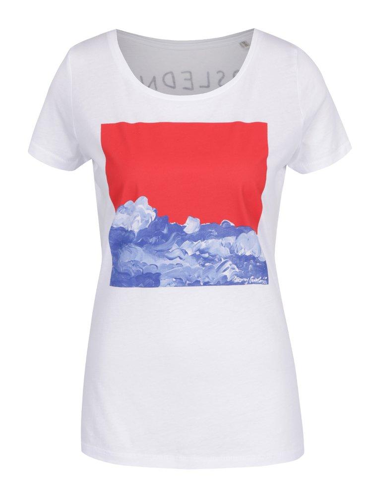 Bílé dámské tričko s potiskem Ben Cristovao - Poslední
