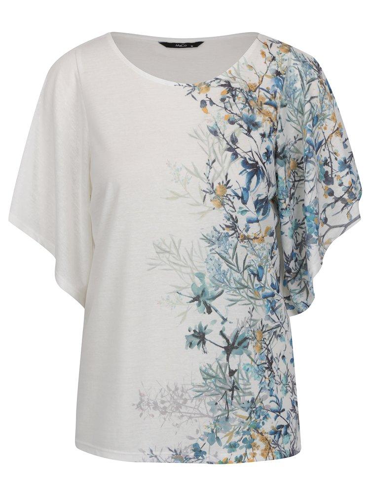 Krémová volná květovaná halenka s širokými rukávy M&Co