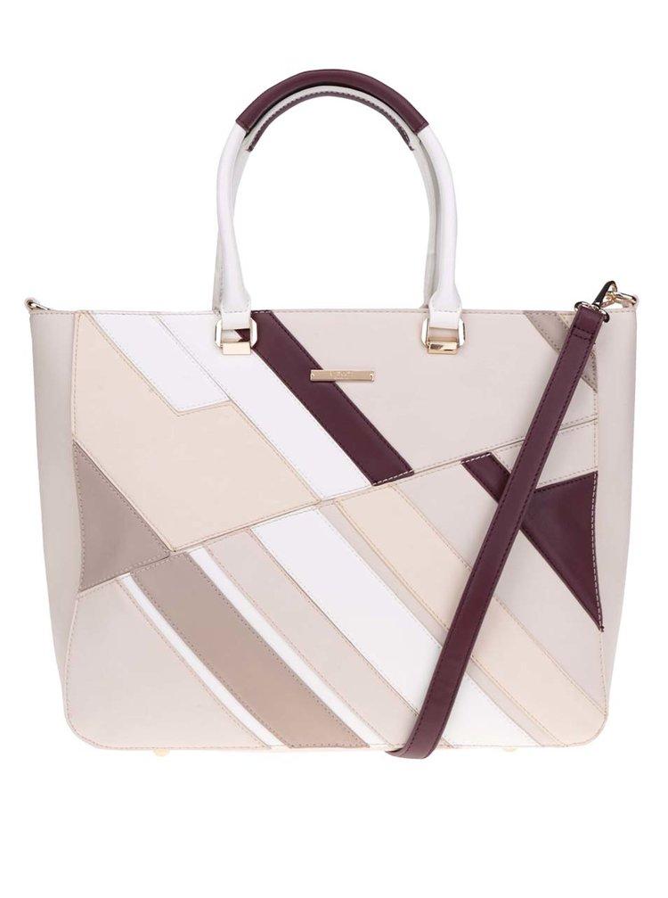 Krémovo-béžová kabelka s detaily ve zlaté barvě LYDC