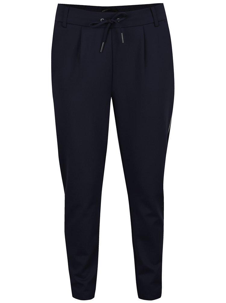 Tmavě modré kalhoty s pružným pasem ONLY Poptrash
