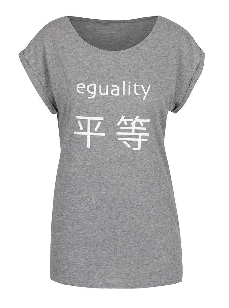 Šedé dámské volné tričko ZOOT Originál Eguality hipster
