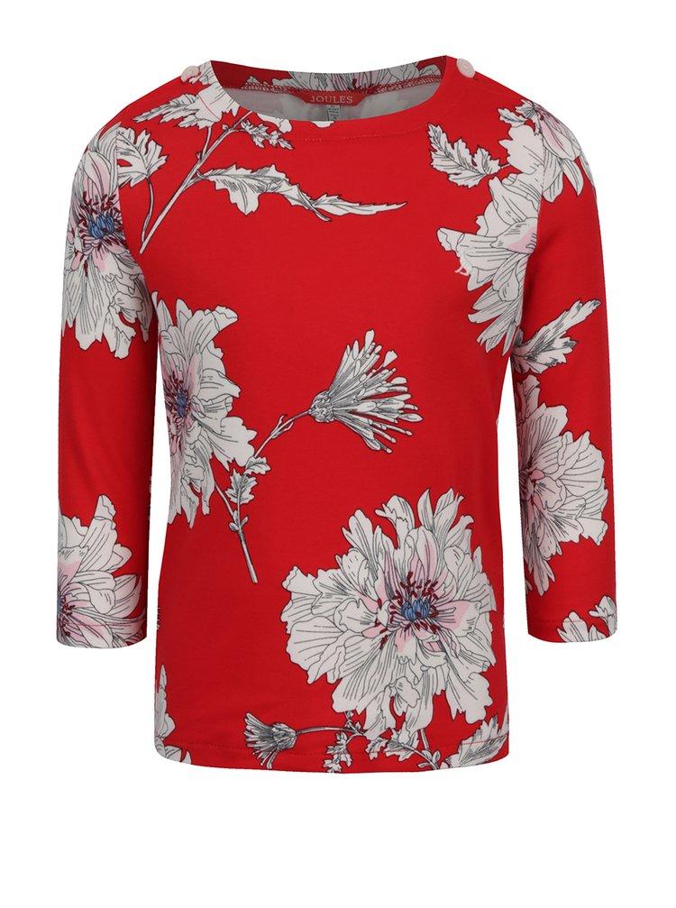 Bluza rosie cu print floral Tom Joule pentru fete