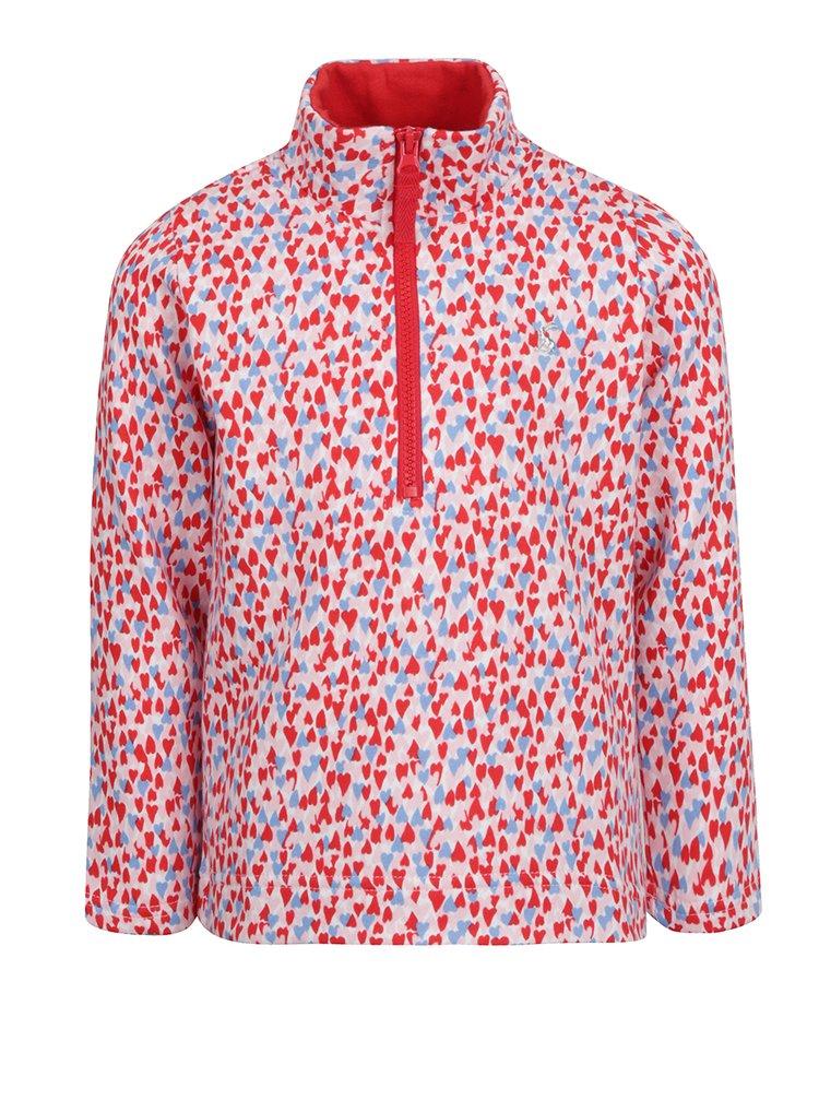 Bluza cu print multicolor si fermoar Tom Joule pentru fete