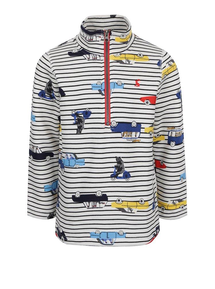 Bluză cu dungi și print multicolor Tom Joule pentru băieți