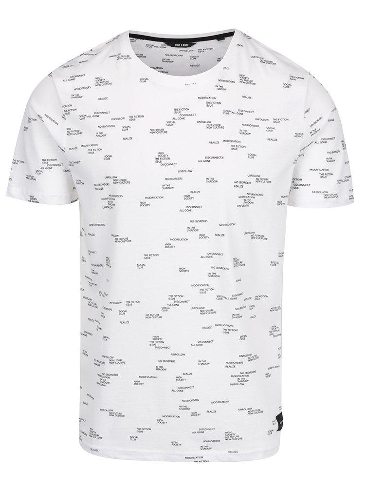 Tricou alb cu imprimeu negru ONLY & SONS Anker