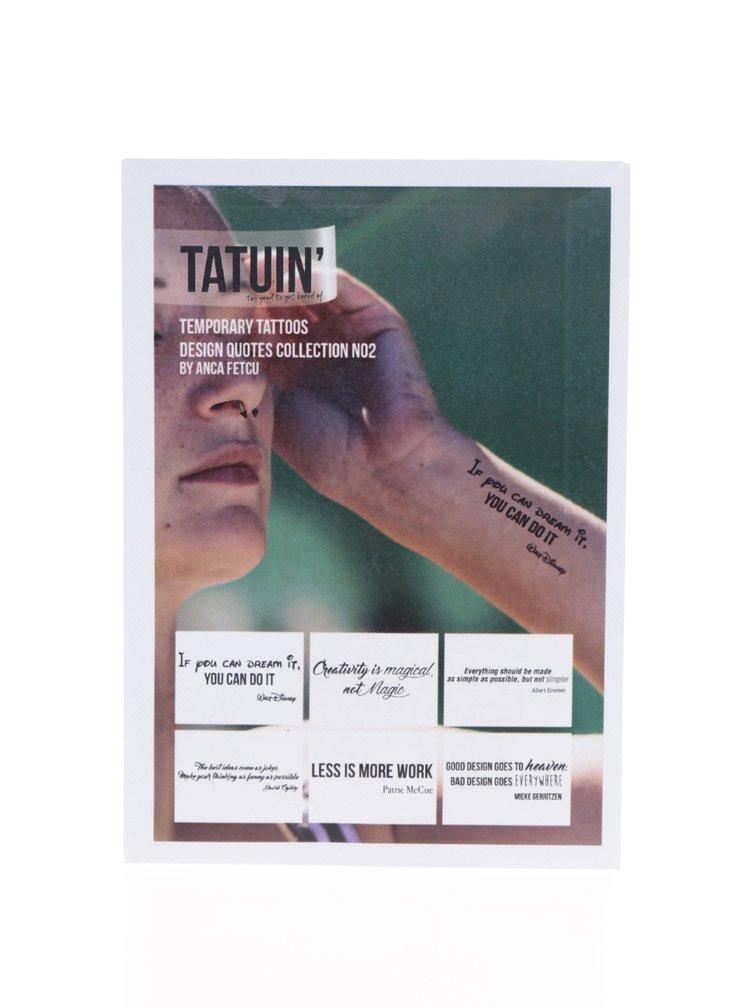 Set 6 tatuaje Design Quotes Collection No 2 TATUIN`