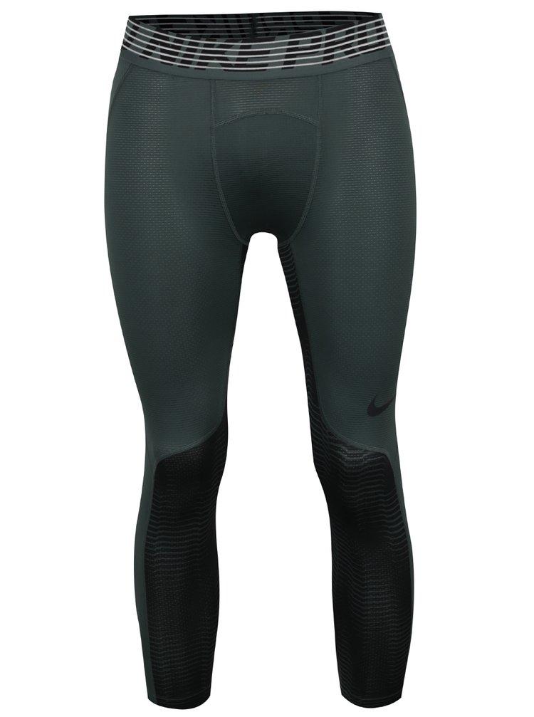 Colanți sport 3/4 verzi Nike pentru bărbați