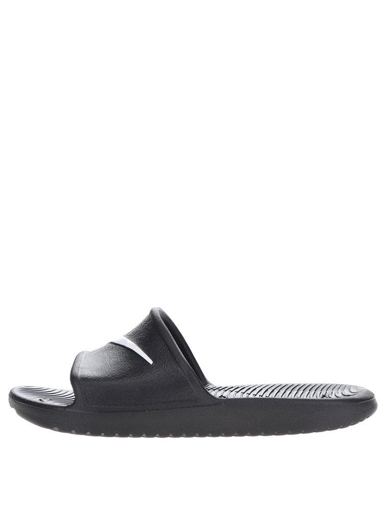 Černé dámské pantofle Nike Kawa Shower