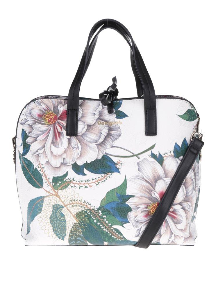 Geantă albă Desigual cu flori